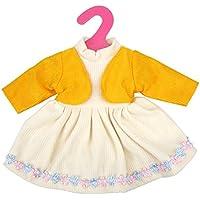ノーブランド品  可愛い ドレス 服  16インチ/ 40cm人形用  アクセサリー 2色選べる  - 黄