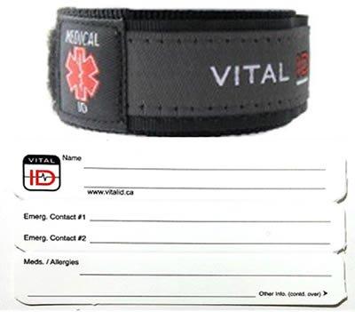 情報を身につける-Medical ID リストバンド Mサイズ
