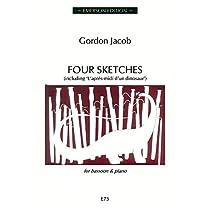 ジェイコブ : 4つのスケッチ (ファゴット、ピアノ) エマーソン出版