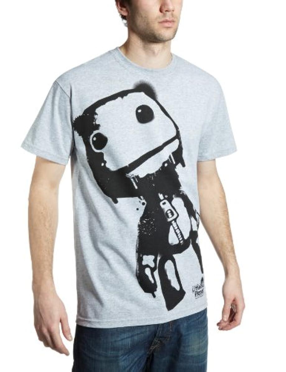 限りなく所得続編Little Big Planet リトル?ビッグ?プラネット Sack Boy サック?ボーイ 公式 sony PS4 メンズ グレー Tシャツ 全サイズ