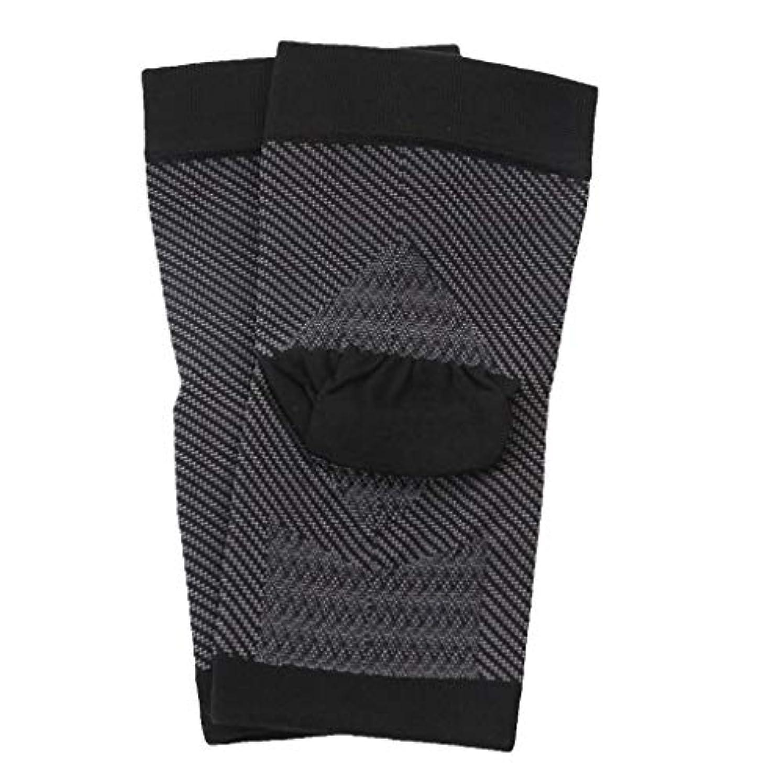 航空会社暗くする苗Hellery 全2種類 かかと 靴下 かかとケア レディース メンズ 靴下 かかと ひび割れ 保湿 美容 1ペア - L-XL