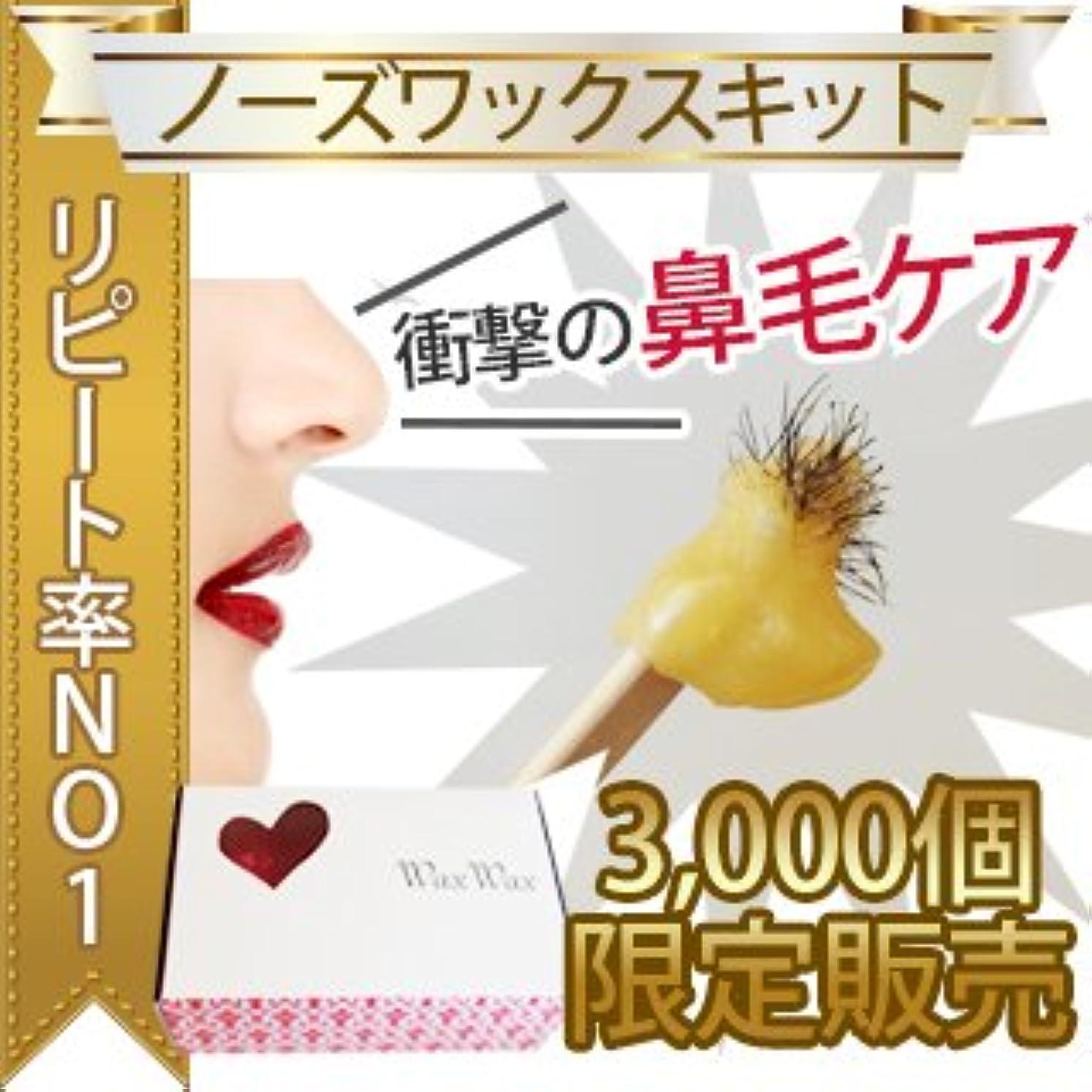 無駄な放散する慢性的【3000個限定】鼻毛キット 約3回分 ノーズキット セルフ用