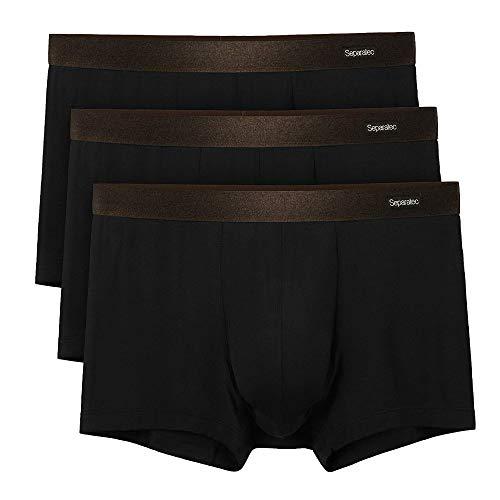 [Separatec(セパレーテック)] ボクサーパンツ 分離型 前開き 蒸れない 竹繊維 102T メンズ 3枚組 ブラック Mサイズ