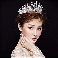 Crystal Crowns, Europe and America Baroque Luxurious Handmade Beading high Quality Alloy Elegant Princess Birthday Party Headband