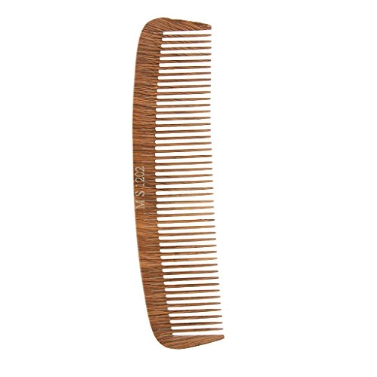 ヘアカットコーム コーム 木製櫛 帯電防止 4タイプ選べる - 1202