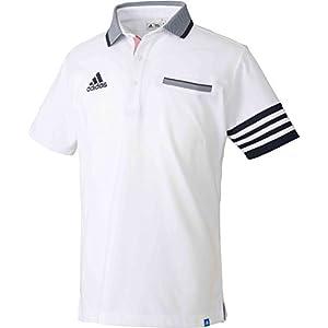 (adidas Golf(アディダスゴルフ)adidas Golf(アディダスゴルフ) ADICROSS 3ストライプ ショートスリーブ ポロ CCO40 M73671 ホワイト L