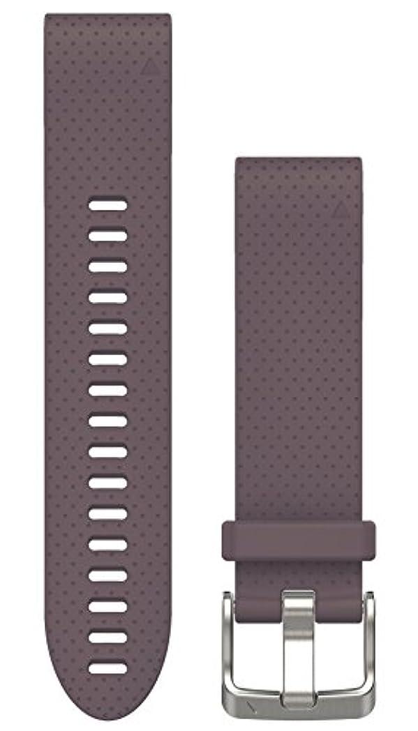 ジュース依存する故障GARMIN(ガーミン) QuickFit 20mm  fenix5s/5Splus用交換ベルト Dark Purple 010-12491-28