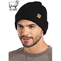 Tough Headwear Winter Beanie Knit Hats for Men & Women - Warm, Stretchy & Soft Cold Weather Stylish Toboggan Watch Caps - Serious Cuff Beanies for Serious Style