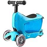 子供のスクータースリーインワン軽自動車のライトホイール調節可能な子供の誕生日プレゼント ( Color : Blue )
