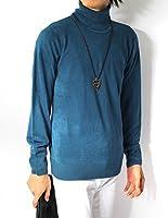 (リピード) REPIDO タートルネック メンズ ニット セーター ハイネック ニットセーター 無地 カシミアタッチ 長袖 アクリル ソフト