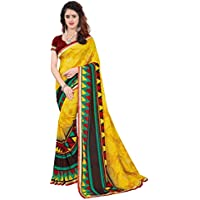 CRAFTSTRIBE Bollywood Saree Party Wear Georgette Indian Pakistani Ethnic Wedding Sari Women