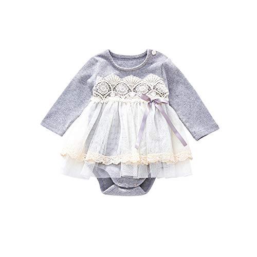 ce6201c21ebd3 Mornyray ベビー服 ロンパース カバーオール スカート付き チュチュ 長袖 ワンピース フォーマル コットン 0-30ヶ月 size