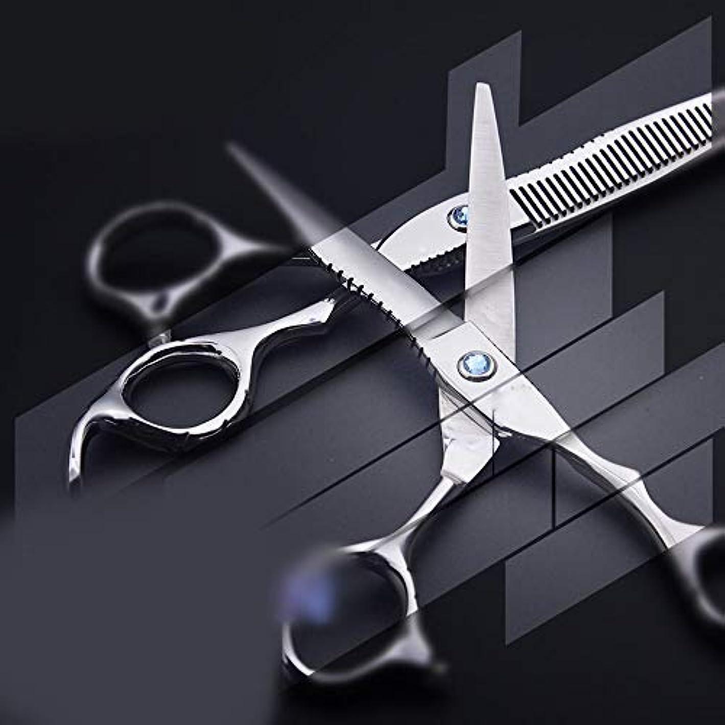 マーカーくつろぐフローGoodsok-jp 6.0インチフラワーハンドルプロフェッショナル理髪はさみ、フラット歯せん断理髪はさみツール (色 : Silver)