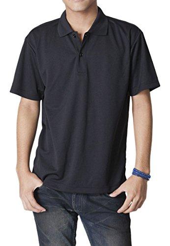 ティーシャツドットエスティー ポロシャツ ドライ 半袖 無地 UVカット 4.4oz メンズ ブラック L