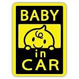 BABY1 BABY IN CAR ベイビーインカー 反射マグネットシート 134mm×98mm 防水加工 日本製