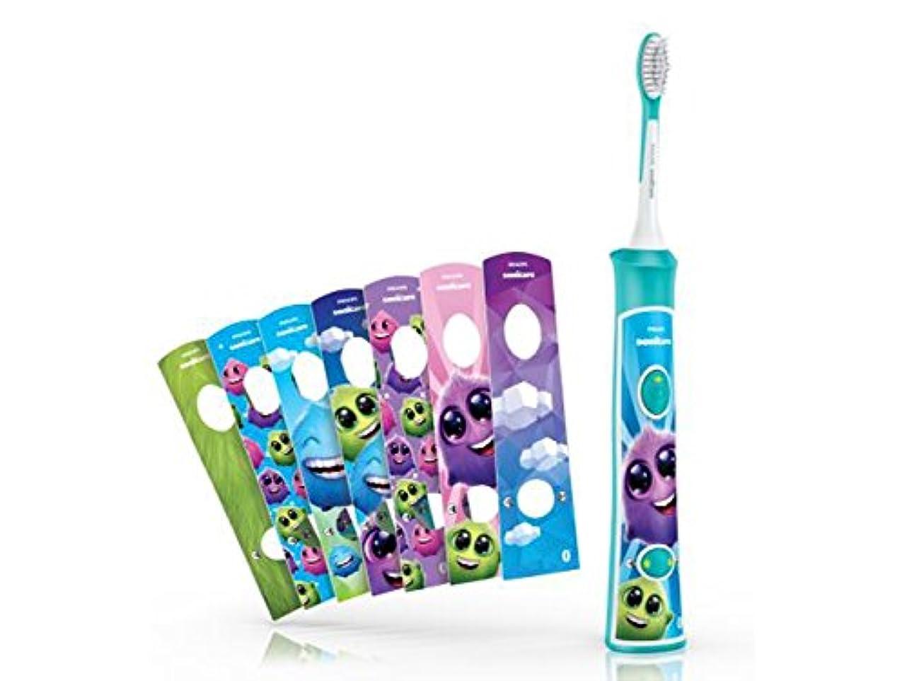 夏正確な人工的なフィリップス ソニッケアー キッズ こども用電動歯ブラシ アプリ連動 HX6321/03