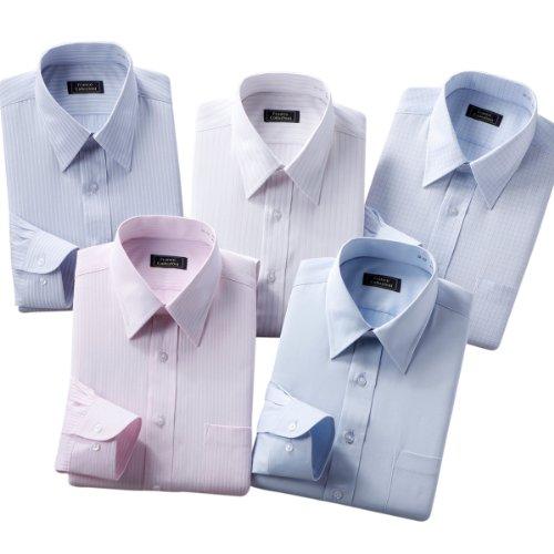 (フランコ コレツィオーニ)Franco Collezioni 55/45形態安定ワイシャツ5枚セット(カラー系) 50261  カラー系 S