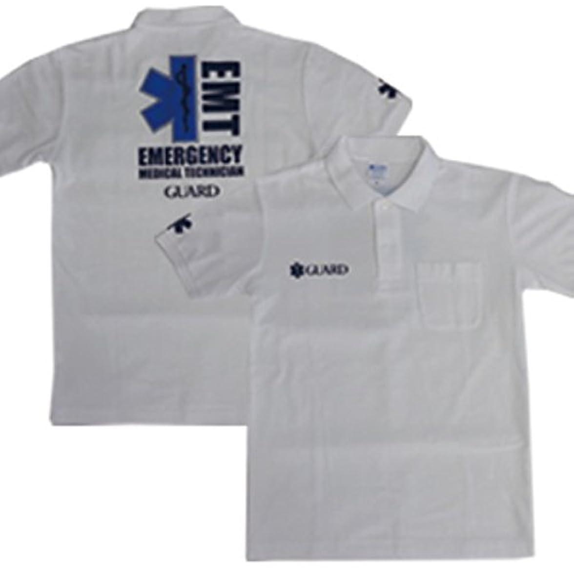鳩貨物干し草GUARD ガード 胸ポケット付 鹿の子ポロシャツ/スターオブライフ EMT 救急救命士 pol-205 メンズ アウトドア レスキュー
