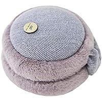 Chinashow Knitted Super Soft Folding Earmuffs Winter Earmuffs Ear Warmers,Gray