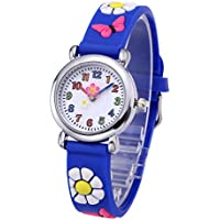 Top Plaza Kids Watches 3D Cute Cartoon Flower Butterfly Silicone Children Toddler Wrist Watch Time Teacher Birthday Gift for 3-10 Year Boys Girls Little Child