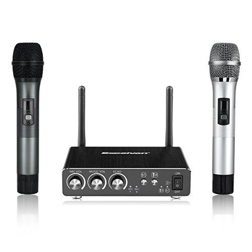 Excelvan K28 카라오케 세트 디지탈 신호 / 25CH / UHF대역 / echo・BGM가조 /  스마호  타블렛 TV등 대응-K28