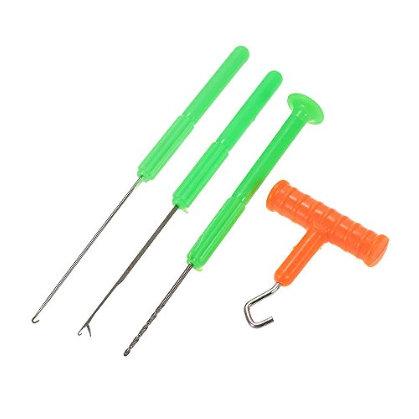 山岳規範教師の日1つの釣餌の装備の用具セットに付き4つの餌の針のドリルの結び目の引き手の縦桁および掘削機