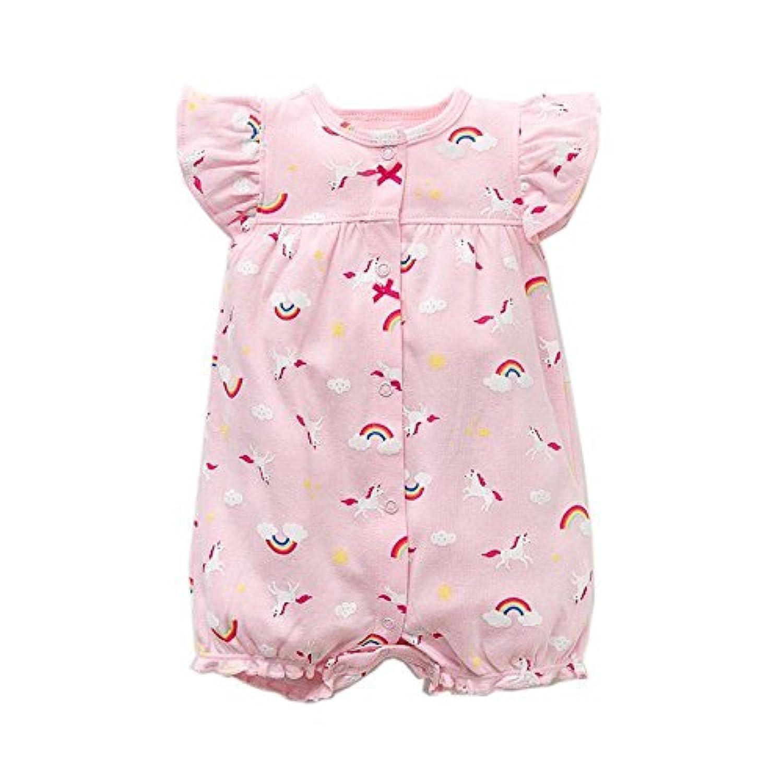 カーターズ Carter's ロンパース 半袖 ショートオール ベビー服 女の子 ピンクユニコーン (9months(67-72cm)) [並行輸入品]
