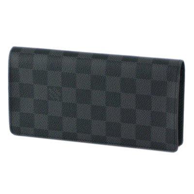 (ルイ・ヴィトン) LOUIS VUITTON ダミエ グラフィット ポルトフォイユ・ブラザ N62665 長財布 メンズ グラフィット ブラック 二つ折り [並行輸入品]