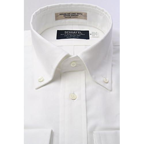 (スキャッティ) SCHIATTI ヴィンテージ オックスフォード 白無地 ボタンダウン ドレスシャツbd2150-3882