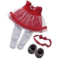 Manhattan Toy ベビーステラ ファンシフルフリル ホリデードレス ベビードール服