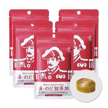 森下仁丹 鼻・のど甜茶飴 38g(約17粒)×5袋セット のど飴 ノンシュガー