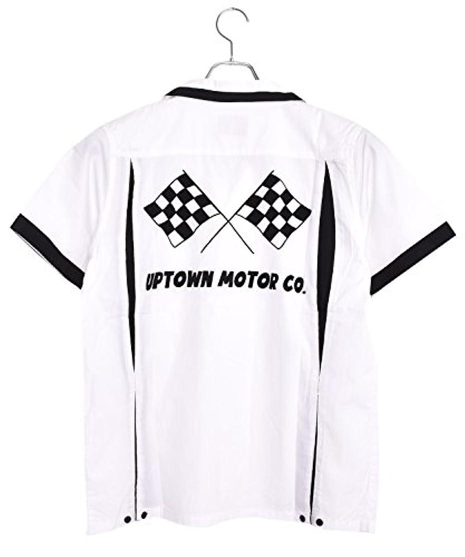 医薬品スチュワード毎週(ヒューストン)HOUSTON コットンボウリングシャツ(モーター) (40433) (XL, ホワイト)