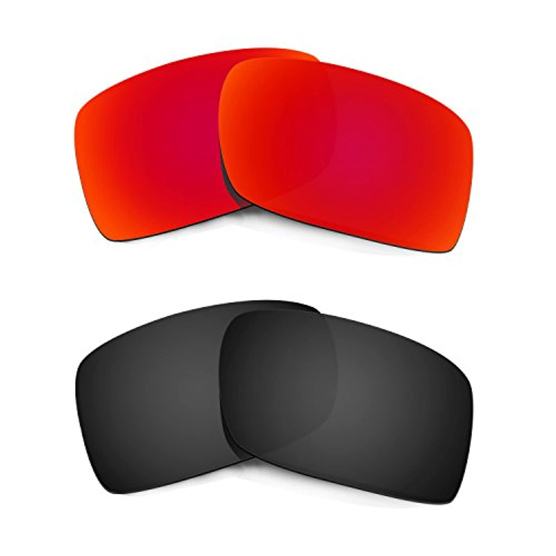 Hkuco Plus 交換用レンズ Oakley Gascan - マルチオプション型 レッド/ブラック 偏光