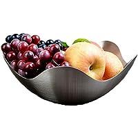 F10 ステンレス製 フルーツボウル フルーツバスケット フルーツ ホルダー 皿 かご プレート ラック ボール インテリア フルーツ入れ 小物入れ (ボウル)