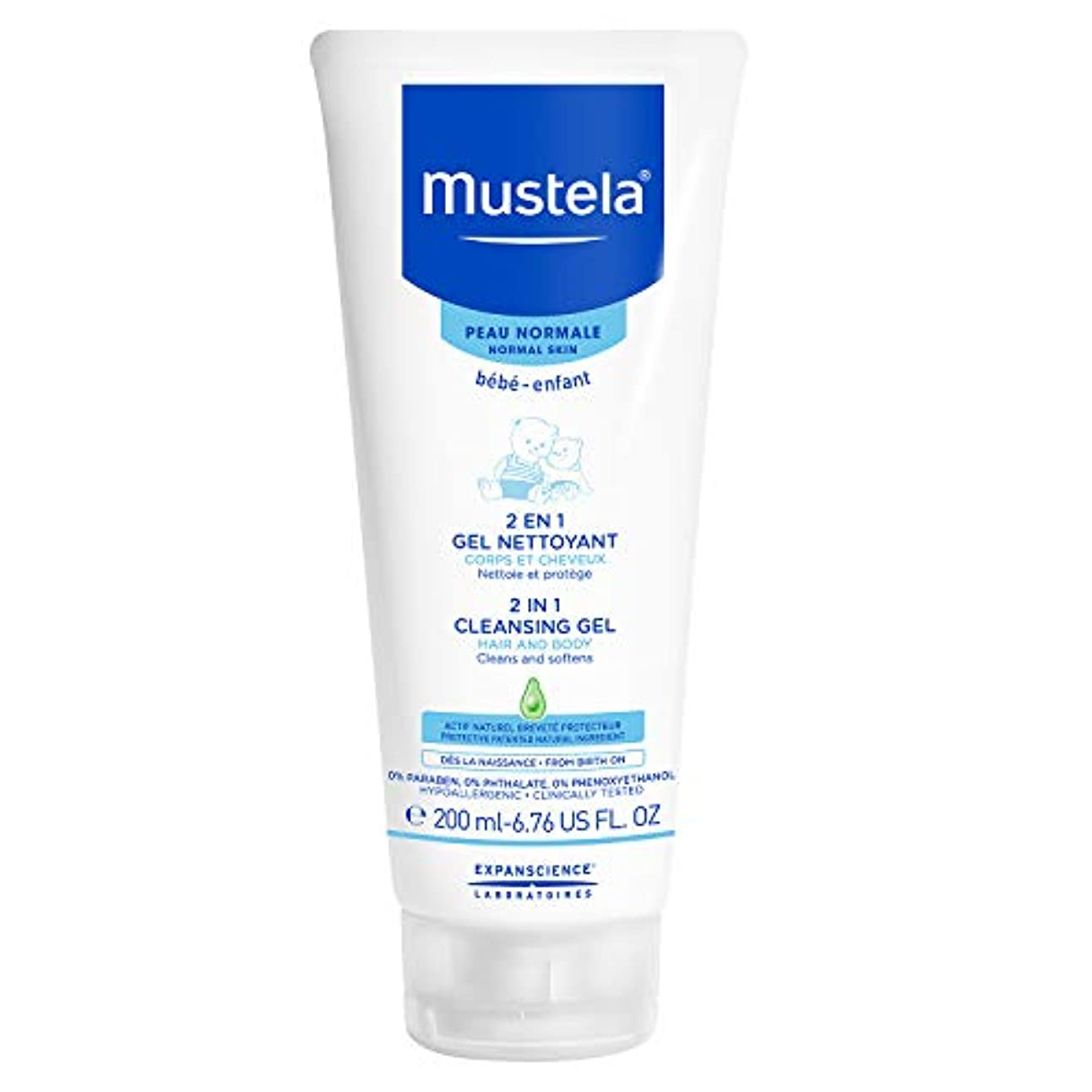 自信がある下手船員Mustela - 2 in 1 Cleansing Gel (6.76 oz.)