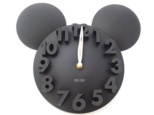掛け時計 3D ウォール クロック ブラ...