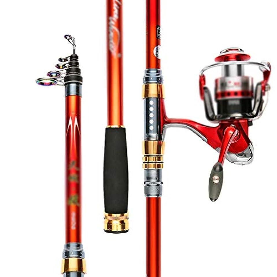 事前に文献仕える釣り竿 釣り竿シーロッドミニポータブル格納式カーボンスーツシングルロッドプラス釣りホイール釣り