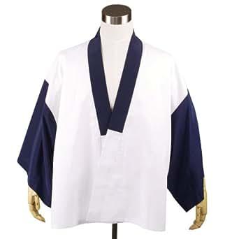(キョウエツ) KYOETSU メンズ洗える半襦袢 無地 仕立て上がり (S, 紺)
