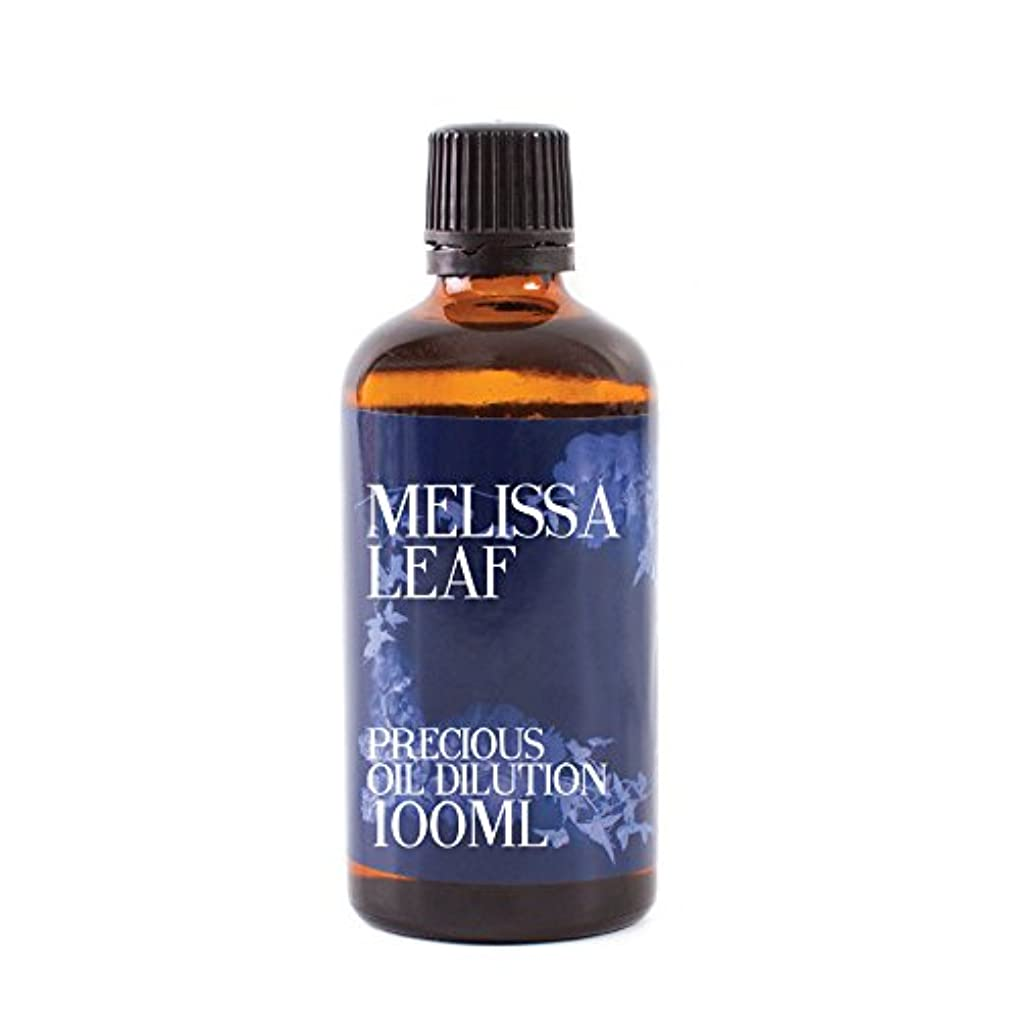 虐殺に沿ってインシデントMystic Moments | Melissa Leaf Essential Oil Dilution - 100ml - 3% Jojoba Blend