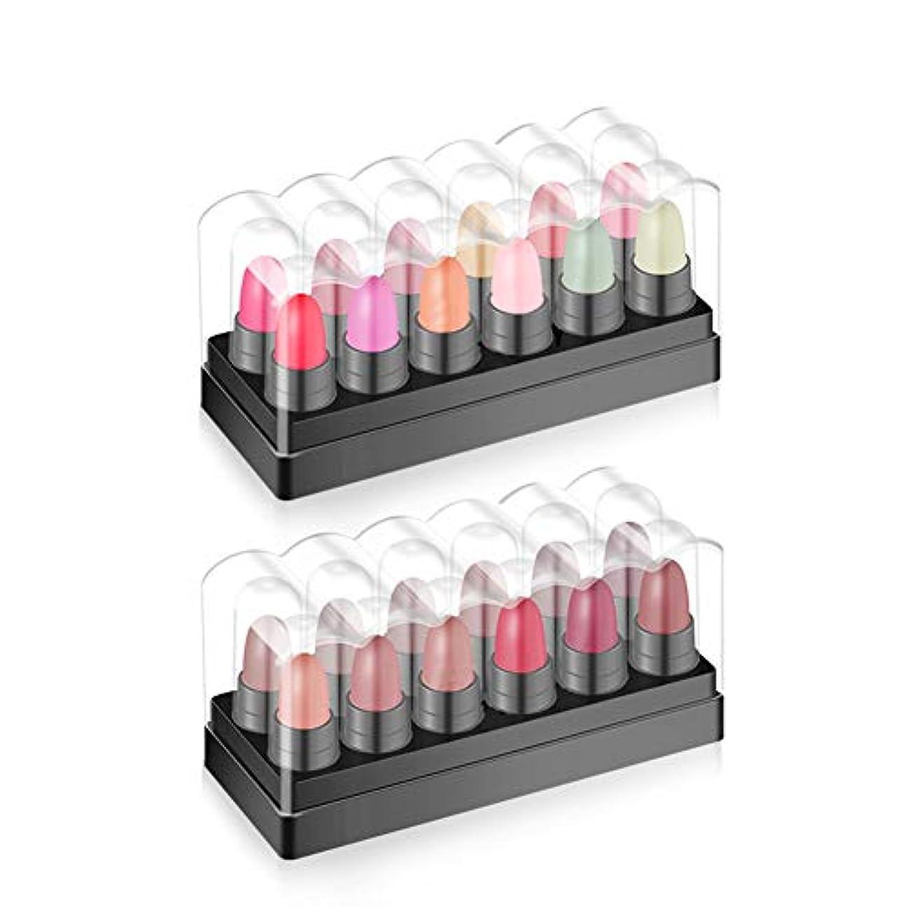 通り習字支給MeterMall 12色マットビロードのような鮮やかな色の防水リップグロスセット 1#