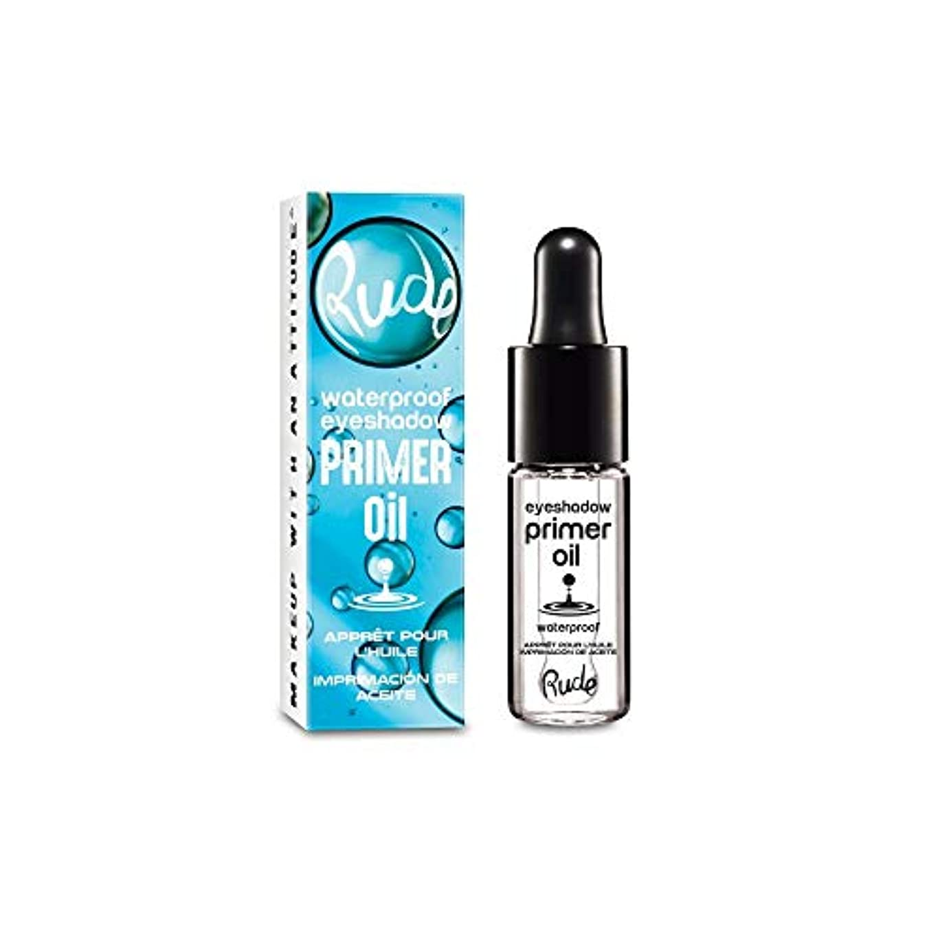 耐久円形文明化(6 Pack) RUDE Waterproof Eyeshadow Primer Oil (並行輸入品)