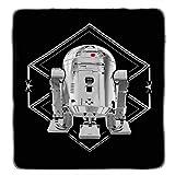 Best 毛布スターウォーズ毛布 - 1ピース62x 90KidsホワイトブラックStarwarsテーマスロー毛布、ノベルティGeometric Star Wars r2d2最後の帰還パターンピクニック車スタイルアクセント寝具ソファソファ寝室ベッド、ポリエステル Review
