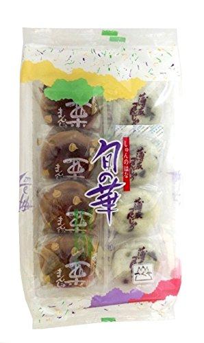 津具屋製菓 旬の華(薄皮万十・栗万十) 8個