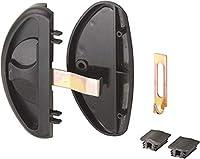 CRL スライド式ドアラッチと引き手 ブラック