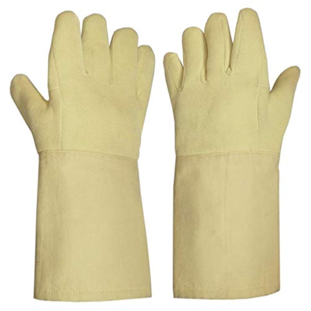 ファイナンス分解する小数LIUXIN カットプルーフ高温耐性手袋労働保護手袋切断保護手袋絶縁防滑性滑り止め14.5 * 38センチ ゴム手袋