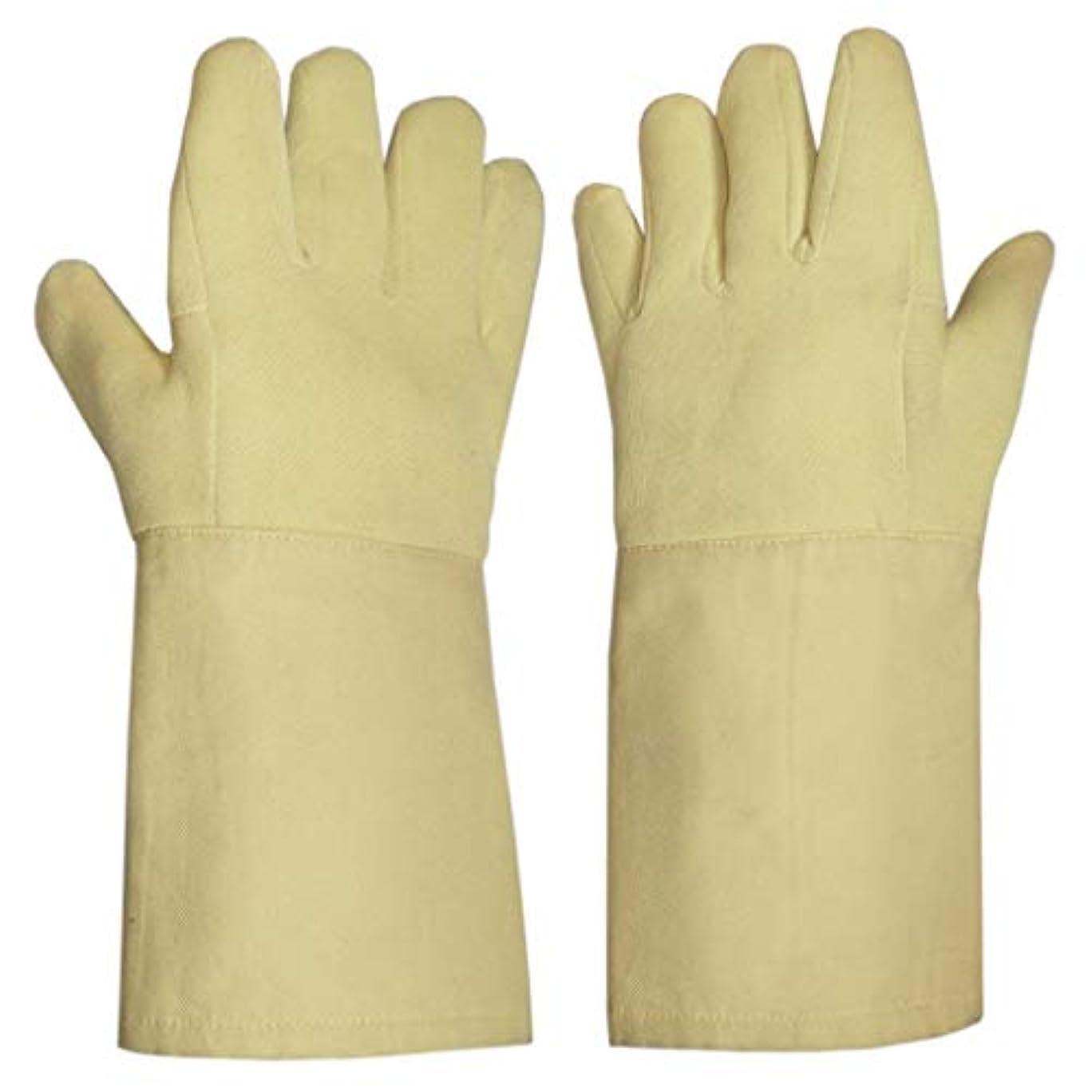 保険カウントアップ織機LIUXIN カットプルーフ高温耐性手袋労働保護手袋切断保護手袋絶縁防滑性滑り止め14.5 * 38センチ ゴム手袋