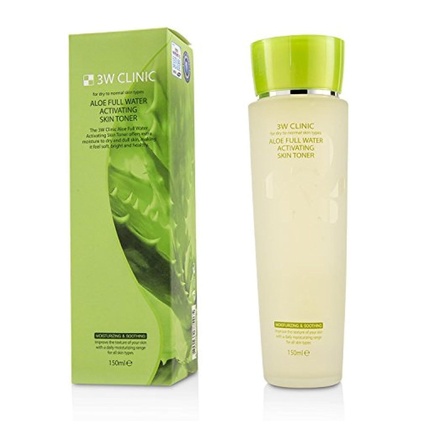 コンバーチブル軽減暴動3Wクリニック Aloe Full Water Activating Skin Toner - For Dry to Normal Skin Types 150ml/5oz並行輸入品