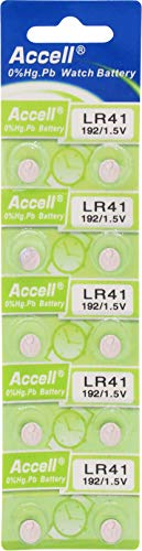 Accell LR41 アルカリボタン電池 10個パック × 1シート 環境にやさしい水銀0% オーディオファン