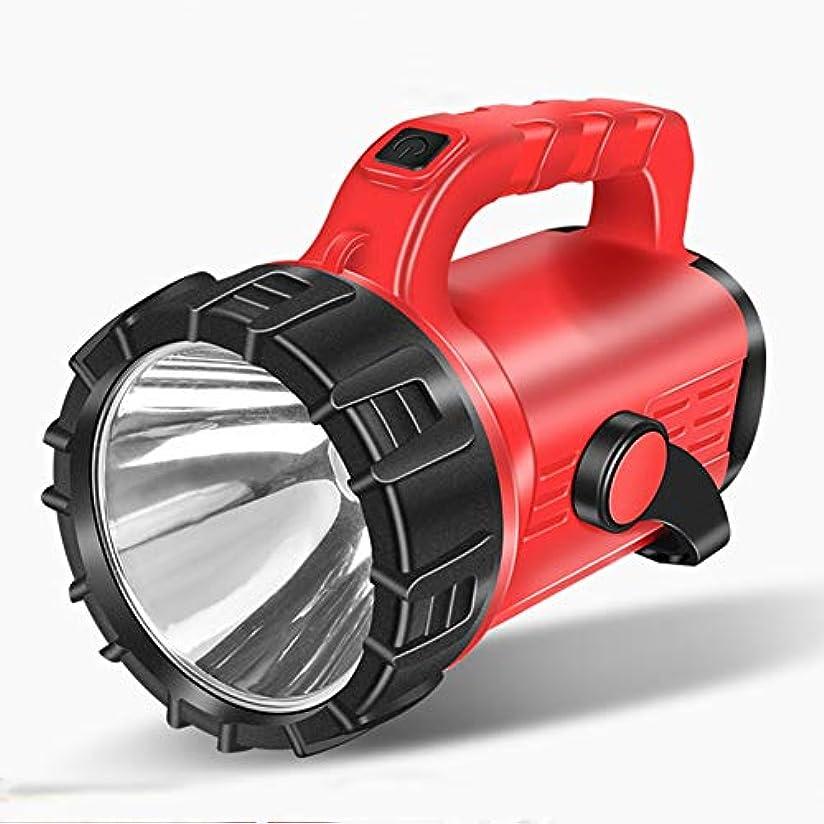 作動する泥棒杭グレア懐中電灯 充電式スポットライト 多機能屋外ポータブルサーチライト 24時間バッテリー非常灯 防水