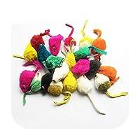 2ピース/ロット柔らかいウサギの毛皮偽マウス猫おもちゃおかしいキャンディー色犬のおもちゃ-ランダム-